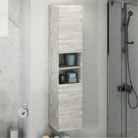Верона 35 Шкаф-колонна 160х35х32 см Дуб белый
