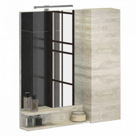 Верона 90 Зеркало-шкаф 80х90х15 см Дуб белый