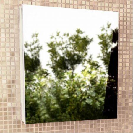 Диана 60 Зеркало-шкаф 74х58х14 см Белый глянец