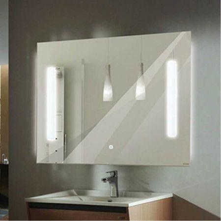 Жасмин 75 Зеркало, светодиодная лента, сенсор 750*650