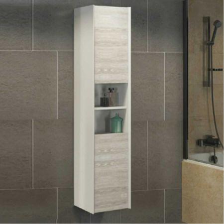 Женева 35 Шкаф-колонна 160х35х32 см Дуб белый