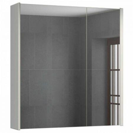 Женева 75 Зеркало-шкаф 80х75х16 см Дуб белый