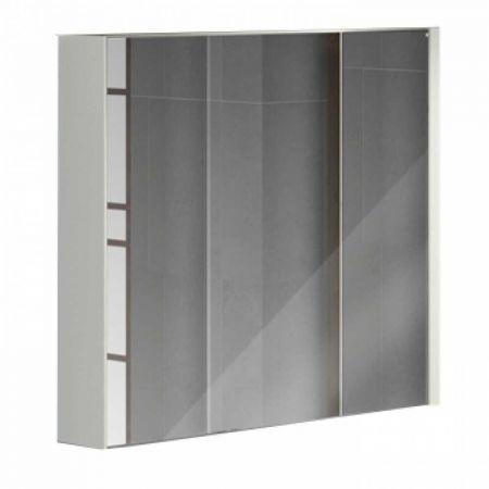 Женева 90 Зеркало-шкаф 80х90х16 см Дуб белый
