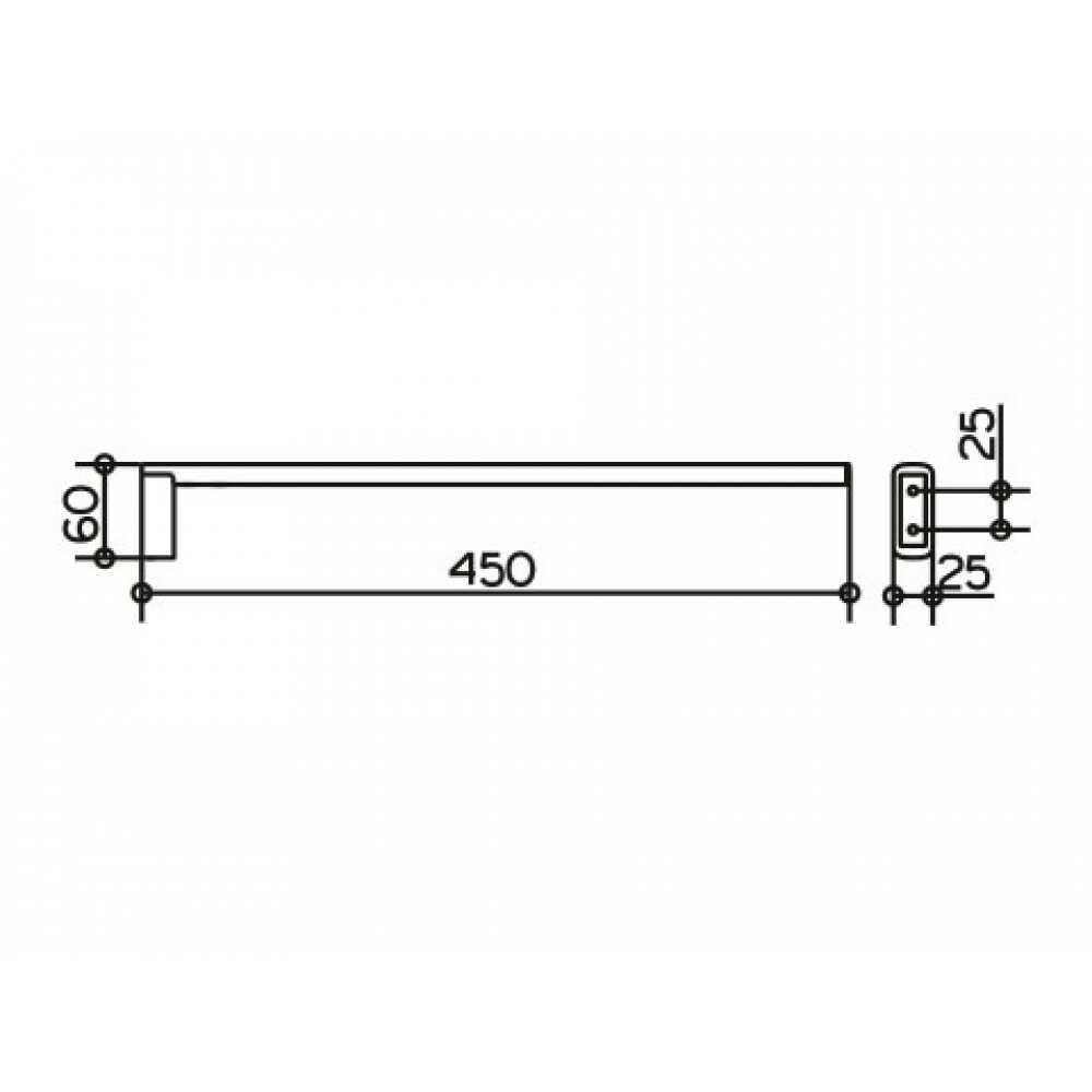 EDITION 400 Полотенцедержатель 450 мм. 11520 010000, однорожковый, хром