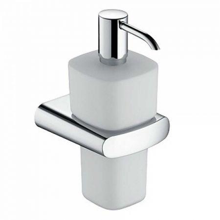 ELEGANCE Дозатор д/мыла (опаловое стекло) 220 мл + держатель хром 11654 019000