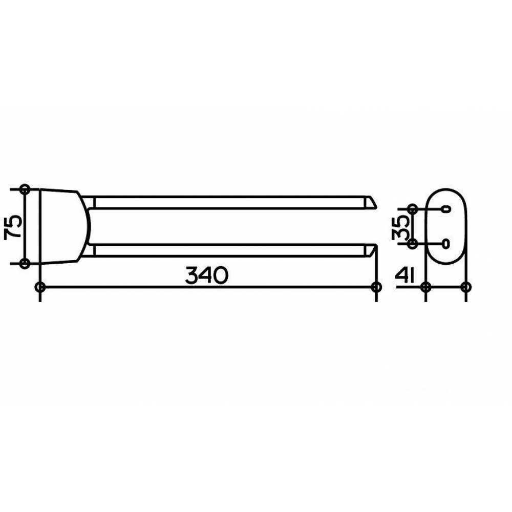 ELEGANCE Полотенцедержатель 340 мм 11620 010000, хром