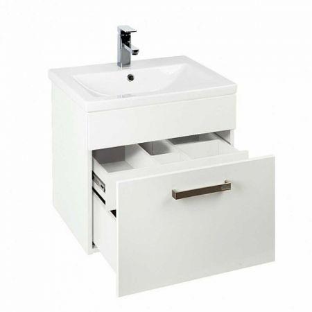 NEW MIRRO Тумба с умывальником  для ванной комнаты, подвесная 50 см NMIR50Wi95K (белый)