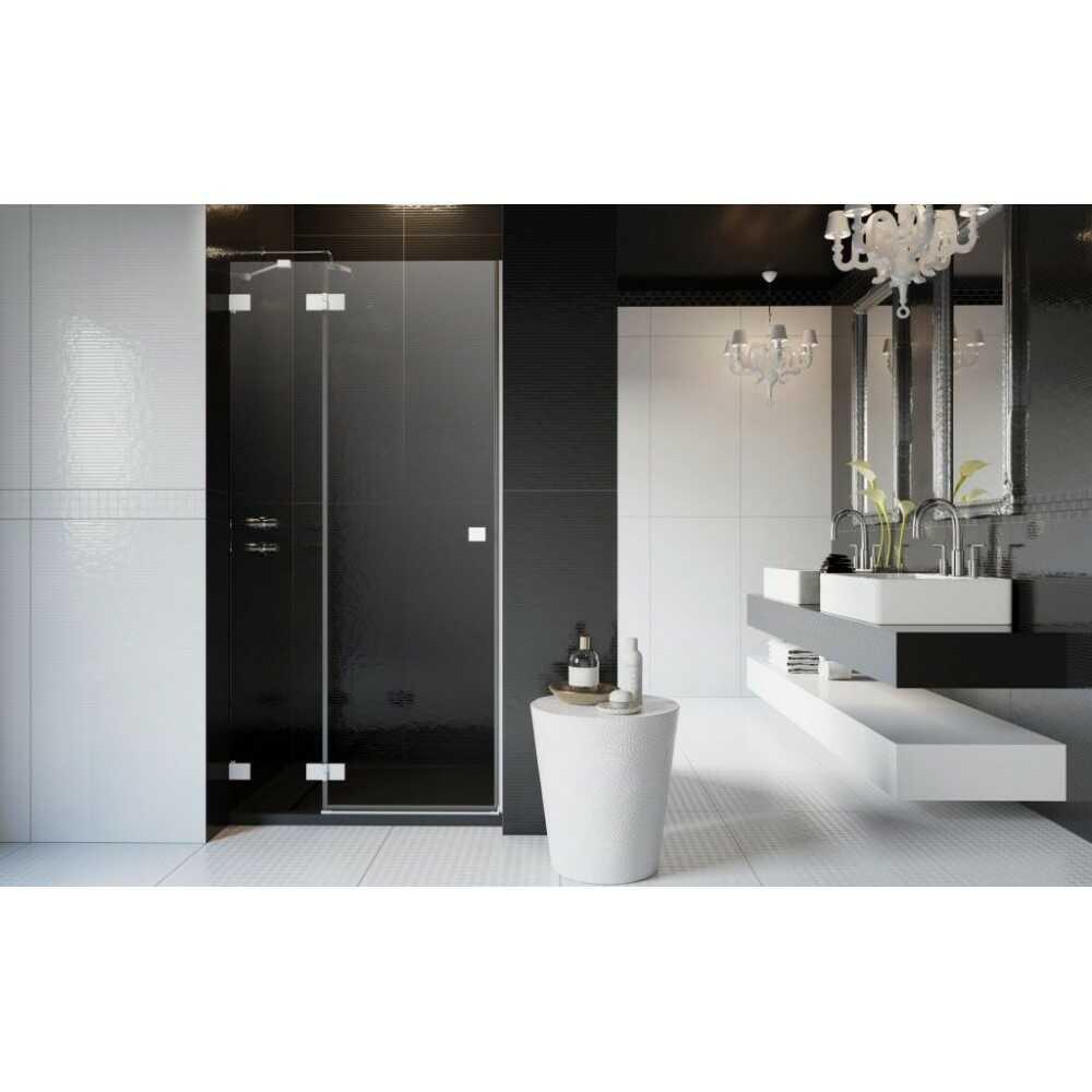 Душевая дверь распашная Essenza PRO White DWJ 90 10099090-04-01L (стекло прозр.)