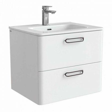 BRICK Тумба с умывальником для ванной комнаты 60 см BRI60W0i95K (белый)