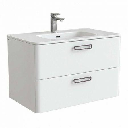 BRICK Тумба с умывальником для ванной комнаты 80 см BRI80W0i95K (белый)