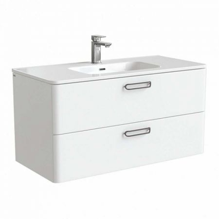 BRICK Тумба с умывальником для ванной комнаты 100 см BRI10W1i95K (белый)