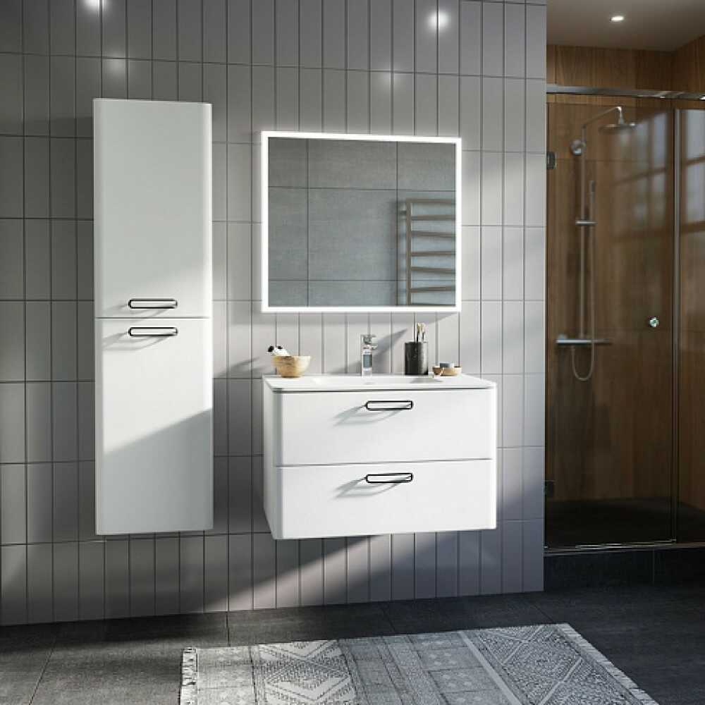 BRICK Пенал для ванной комнаты BRI40W0i97 (белый)