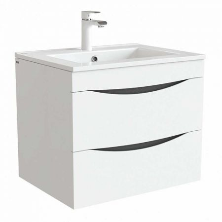 CLOUD Тумба с умывальником для ванной комнаты 60 см CLO60W0i95K (белый)