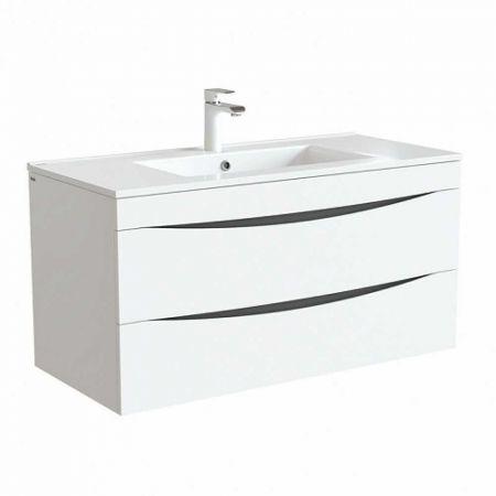 CLOUD Тумба с умывальником для ванной комнаты 100 см CLO10W1i95K (белый)
