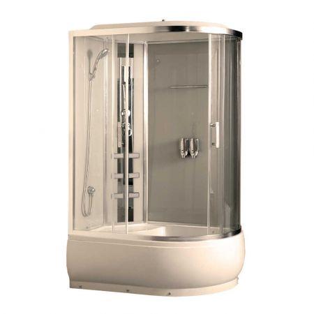 Душевая кабина COMFORTY 184 L прозрачное стекло 120x85x215 левая