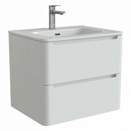 EDIFICE Тумба с умывальником  для ванной комнаты, подвесная 60 см EDI60W0i95K (белый)