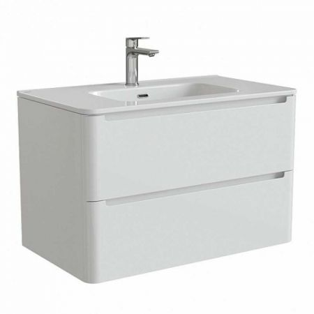 EDIFICE Тумба с умывальником  для ванной комнаты, подвесная 80 см EDI80W0i95K (белый)