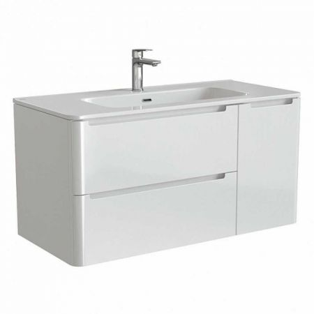 EDIFICE Тумба с умывальником  для ванной комнаты, подвесная 100 см EDI10W1i95K (белый)