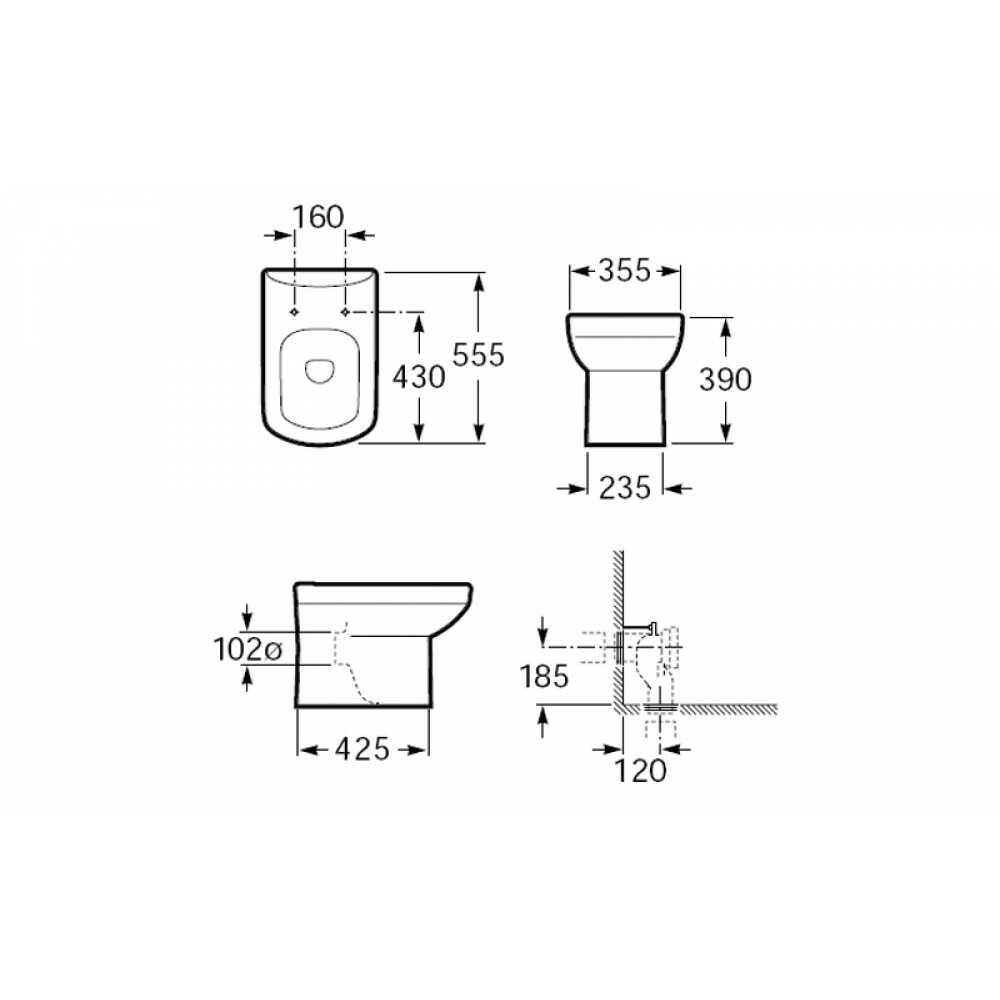 347517000 унитаз D-SENSO-COMPACT прист. 35,5х55,5 + крышка микролифт ZRU9000041