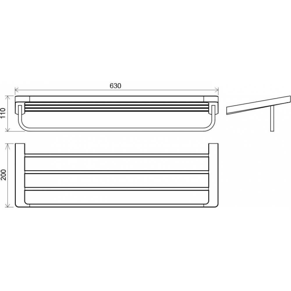 10° Держатель для полотенца с полкой (63 см) TD 330.00 X07P327