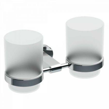 Chrome Держатель с двумя стаканами (стекло) CR 220.00 X07P189
