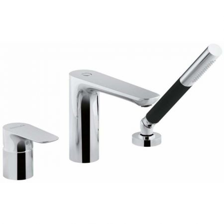 Смеситель ALEO E72292-CP ванна/душ на 3 отверстия (хром)