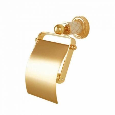 MURANO Держатель для туалетной бумаги с крышкой 10901 золото