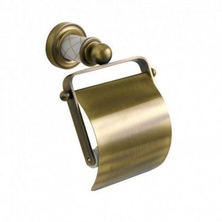 MURANO Держатель для туалетной бумаги, с крышкой 10901 бронза