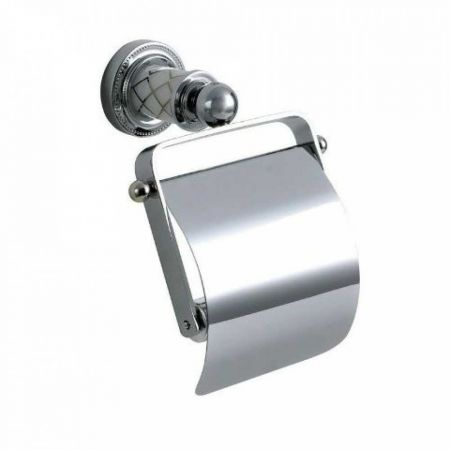 MURANO Держатель для туалетной бумаги, с крышкой 10901 хром