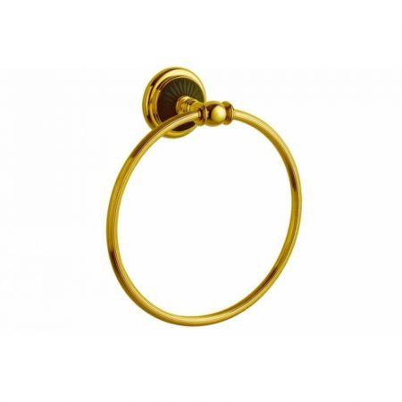 PALAZZO Держатель для полотенец (круглый) 10155 золото + черная керамика