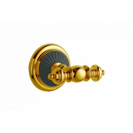 PALAZZO Крючок двойной 10156 золото + черная керамика
