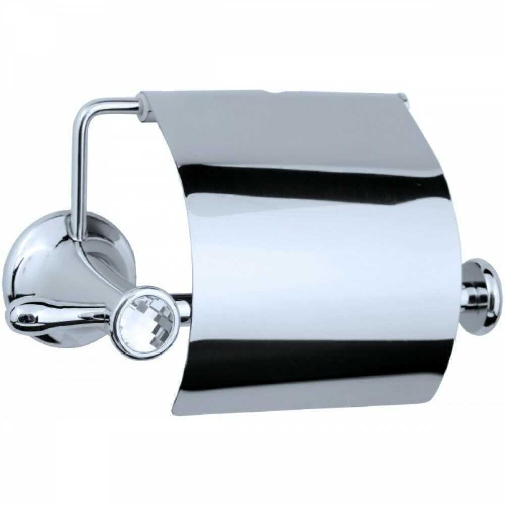PURO Держатель для туалетной бумаги с крышкой 10701 хром & Swarovski
