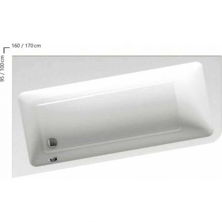 Ванна RAVAK 10° 160х95 правая белая C841000000 + панель CZ84100A00+крепл B28100000N+опора CY81000000