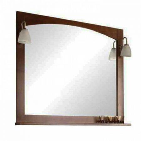 Зеркало НАВАРРА-105 орех 1388-2.М01 + светильник