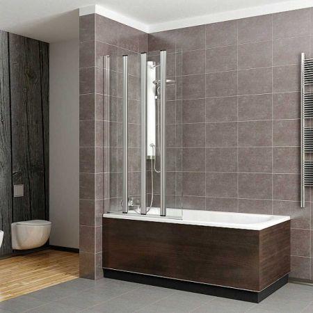 Шторка для ванны EOS PNW4 205401-101 прозрачное стекло