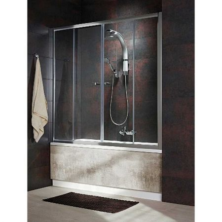 Шторка для ванны VESTA DWD140 203140-01 (1400x1500) стекло прозр.