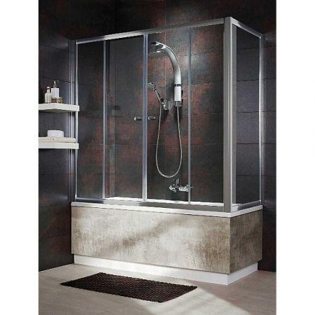 Шторка для ванны VESTA DWD180 203180-01 + S 65 204065-01 стекло прозр.