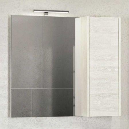 Бремен 90 Зеркало-шкаф 800х900х152 дуб белый