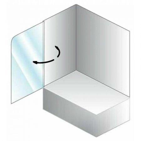 Штора для ванны SOLE TP 75 75x140 хром, прозрачное стекло