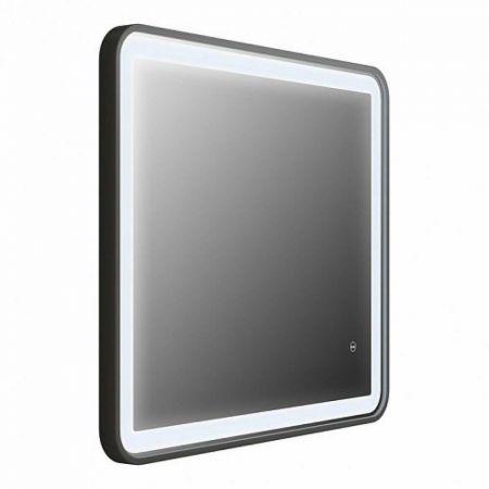 CLOUD Зеркало для ванной с LED-подсветкой 80 см CLO8000i98 (черное)