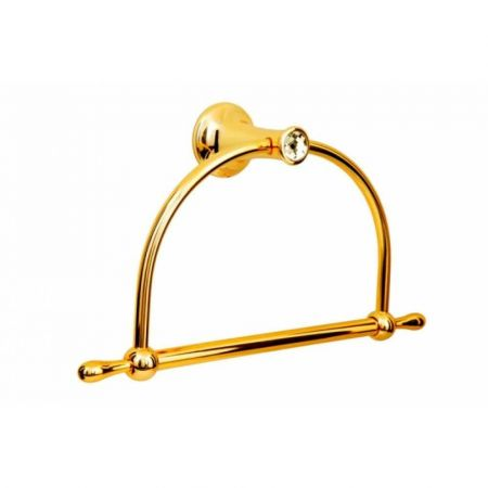 CHIARO Держатель для полотенец (круглый) 10505 золото & Swarovski