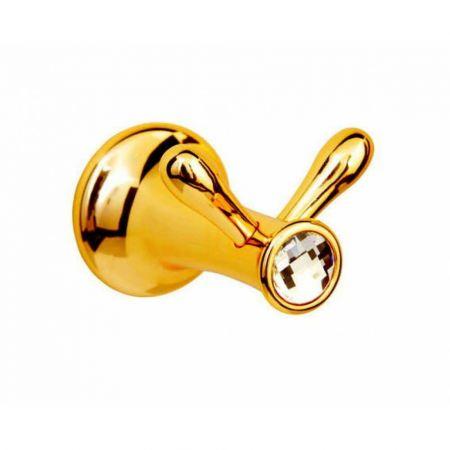 CHIARO Крючок двойной 10506 золото & Swarovski