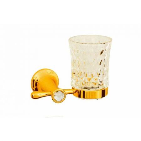 CHIARO Стакан для зубных щеток 10504 золото & Swarovski