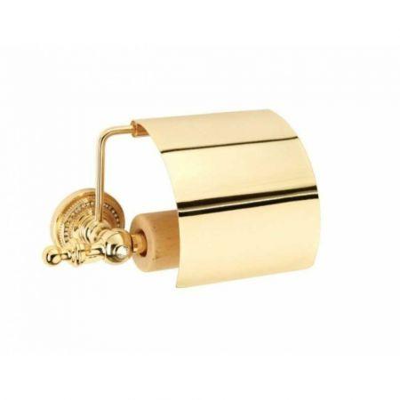 IMPERIALE Держатель для туалетной бумаги, с крышкой 10401 золото