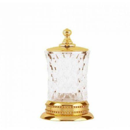 IMPERIALE Настольный стакан для ватных дисков 10415 золото